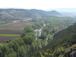 El río Pisuerga camino de Aguilar