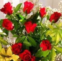 Ramo flores rosas y amrillas
