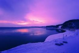 El amanecer azul