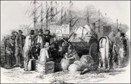 Barco de emigrantes-Dibujo