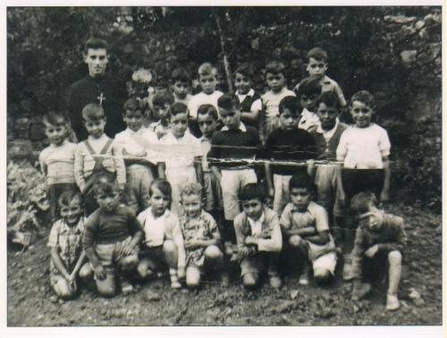 Grupo de escolares en el Colegio San Gregorio