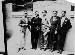 José María Platero y algunos amigos
