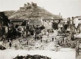 Plaza de Aguilar tras el incendio del 5-6 de agosto de 1912
