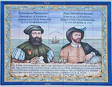 Azulejo conmemorativo de la 1ª circunnavegacion a la Tierra