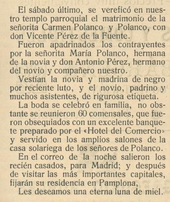 Matrimonio de Carmen Polanco