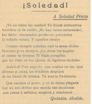 ¡Soledad!