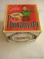Caja de Galletas Fontaneda Antigua