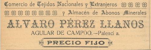 Comercio Tejidos - Álvaro Pérez Llanos