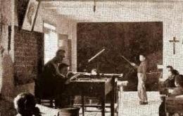 Escuela antigua - Maestro