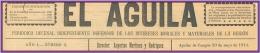 Cabecera de EL ÁGUILA