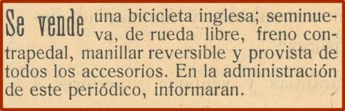 Se vende bicicleta inglesa