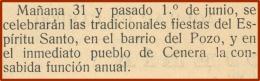 Fiesta del Espíritu Santo (31-Mayo y 1 de Junio)