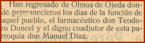 Han regresado de Olmos de Ojeda...