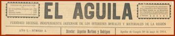 Cabecera de EL ÁGUILA.